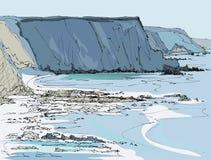 View of Britanny coastline Stock Photo