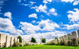 British cemetery by Ypres in Belgium royalty free stock photo