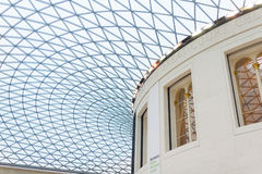 View of the British Museum and its roof made of glass, London Stock Image