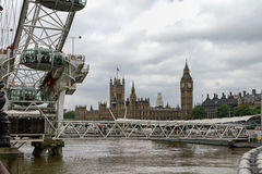 View of the British Parliament across the Thames royalty free stock photography