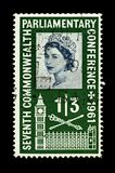 Colourful british postage stamps stock photos