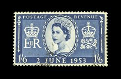 Colourful british postage stamps royalty free stock images