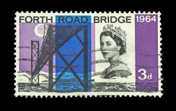 Colourful british postage stamps stock photo