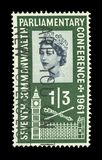Colourful british postage stamps royalty free stock photos