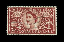 Colourful british postage stamps royalty free stock photo