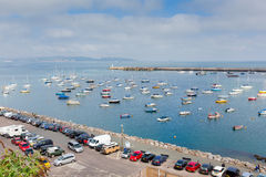 View of Brixham harbour and marina Devon England UK during the heatwave of Summer 2013 Stock Photos