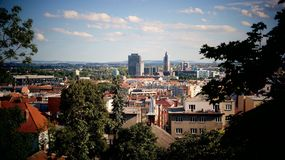 View of Brno. Brno cityscape from Spilberk castle Stock Photo