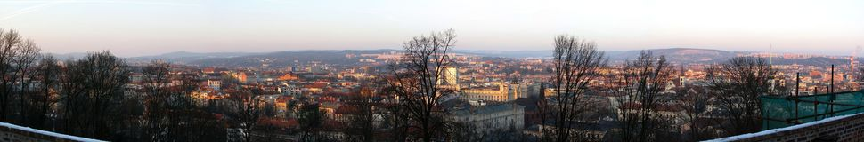 View of Brno of Špilberk in commercial and residential buildings Stock Photography
