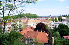 View of Brno and Spilberk Castle, Czech Republic, Europe Royalty Free Stock Photos