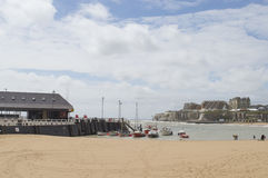 View of Broadstairs, Kent harbour and beach Royalty Free Stock Photo