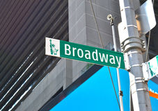 View of broadway Street. In Manhattan Stock Images
