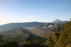 View from the Bromo volcano Royalty Free Stock Image