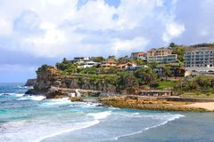 View of Bronte Beach and the pool a sunny day. Royalty Free Stock Photo