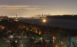 Bronx and Hudson river Royalty Free Stock Image