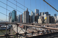View from Brooklyn Bridge Stock Images
