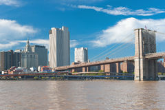 View of the Brooklyn Bridge Royalty Free Stock Photos