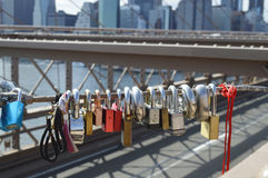 The view from brooklyn bridge royalty free stock photo