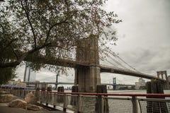 Brooklyn Bridge in Manhattan, New York City royalty free stock image