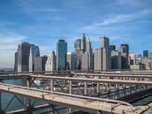 View from the Brooklyn Bridge in 2009. NYC Stock Photography