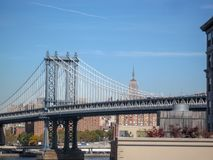View from the Brooklyn Bridge in 2009. NYC Stock Photos