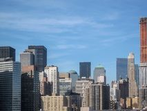 View from the Brooklyn Bridge in 2009. NYC Royalty Free Stock Photos