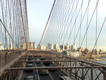 View of Brooklyn from Brooklyn Bridge in New York, NY Royalty Free Stock Photos