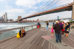 View from Brookyln over East River in New York City Stock Photos
