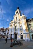 View of Brotherhood Baroque Church on Annenstrasse street Stock Photos