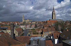 View of Bruges, Belgium. Royalty Free Stock Image