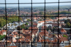View of Bruges from the top Stock Photos