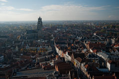 A view on Bruges. View from a tower on the city of Bruges Stock Images