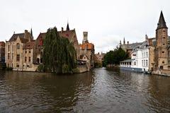 View of Brugge, Belgium. View of buldings and canals at Brugge, Belgium stock photos