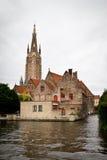View of Brugge, Belgium. View of buldings and canals at Brugge, Belgium royalty free stock images