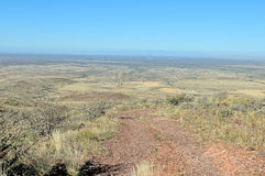 View from the Brukkaros extinct volcano. Namibia with Berseba in the distance stock image