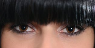 The girl's eyes Stock Photos