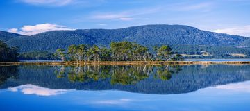 View of Bruny Island beach in the late afternoon. View of Bruny Island beach in Tasmania, Australia in the late afternoon stock photos