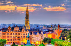 View of Brussels city center Royalty Free Stock Photography
