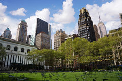 View of  Bryant park Royalty Free Stock Photography