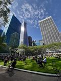View of Bryant Park, Manhattan, NYC royalty free stock photography