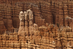 View of Bryce Canyon National Park. This is a close-up of hoodoos at Bryce Canyon National Park in Utah stock photography