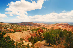 A view of bryce canyon national park. A beautiful view of bryce canyon national park Royalty Free Stock Image