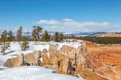 Inspiration Point, Bryce Canyon. A view of Bryce Canyon in Utah, from Inspiration Point stock photos