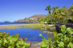 Buccament Bay in St Vincent, Caribbean stock photos