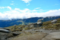 View of the Bucegi mountains. Royalty Free Stock Image