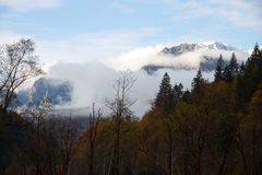 View at the Bucegi mountains, Romania royalty free stock image