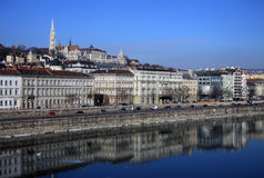 View on Buda bank of Budapest, Hungary. February, 2012 Royalty Free Stock Photography