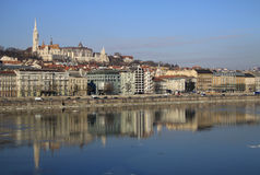 View on Buda bank of Budapest, Hungary. February 2012 Stock Photos
