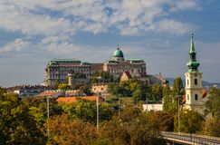 The Buda castle in Budapest royalty free stock photo