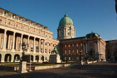 A view of Buda Castle (palace) Royalty Free Stock Photo