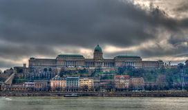 View of Buda Castle (Royal Palace) - Budapest Stock Photography